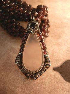 Antique VIctorian Camphor GLass genuine garnet by vintagesparkles, $1200.00