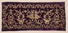 antique ottoman turkish embroidered pillow cover (yastik) • silk velvet Ottoman Yastik Face Turkey.  Mid to late 19th century