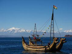 Sailing on Lago Titicaca, Bolivia