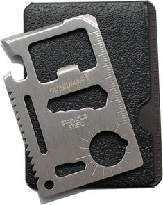 Guardman 11 in 1 Beer Opener Survival Credit Card Tool Fits Perfect in Your Wallet Stocking Stuffers for Him Christmas Gifts for Him Mens Gifts Credit Card Multi Tool, Multi Tool Card, Survival Card, Survival Tools, Edc Tools, Survival Prepping, Christmas Gifts For Him, Gifts For Dad, Holiday Gifts