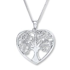 06d5e38ed Kay - Open Hearts Tree Necklace 1/10 ct tw Diamonds Sterling Silver aff link