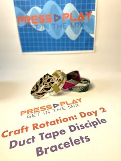 Duct Tape Bracelets, Vbs Crafts, Vacation Bible School, Class Ring, Play, Sunday School