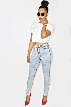 She makes it look super ghetto, but I like...minus the ghettoness -- Sai-yanara Jeans