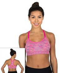 PL Movement by Pink Lotus Bra: Ikat Zen Medium-Impact Sports Bra PT6Q389.  RBX Bra: Space-Dye Seamless Medium-Impact Sports Bra CR427