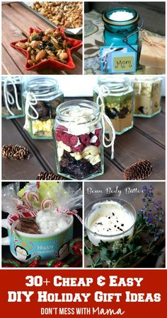 30+ Cheap & Easy DIY Holiday Gifts - DontMesswithMama.com