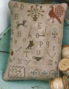 STACY NASH PRIMITIVES Early Style Alphabet by NeedleCaseGoodies