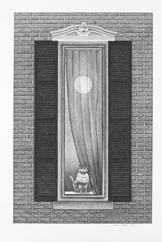"""Watcher, Charcoal on Paper, 19"""" x 12 1/2"""", 2008"""