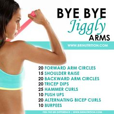 Bye bye jiggly arms Feel The BRI Difference   www.brinutrition.com