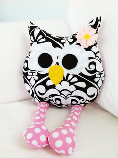 cute stuffed owl pillow