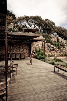 Corsica Dream (House) by Karel Balas for Milk Decoration - Spain Terrace Bois, Porch And Terrace, Natural Architecture, Belle Villa, Stone Houses, Garden Pool, Next At Home, Cabana, Outdoor Rooms