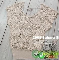 Hooked on crochet: Crochet blouse / Blusa de crochê