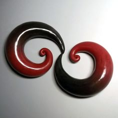 Gauges  Polymer clay 1  plugs for stretched ears by ClayGauged, $40.00