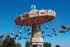 Sarkanniemi Park, Tampere, Finland, Carousel attraction