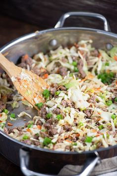 Sausage egg roll in a bowl! Low carb keto recipe that is just as good as take out! Sausage egg roll in a bowl! Low carb keto recipe that is just as good as take out! Slaw Recipes, Pork Recipes, Low Carb Recipes, Cooking Recipes, Healthy Recipes, Delicious Recipes, Sausage Recipes, Pasta Primavera, Keto Foods