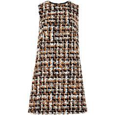 Dolce & Gabbana Tweed mini shift dress ($1,065) This dress is so cute!!                                                                                                                                                                                 More