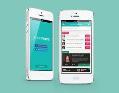 Urbanmoms App UI by Ailton Henriques. 30 Beautiful Mobile UI Examples. #UI #mobile #app #design #inspiration
