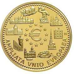 Kingdom of Belgium - 100 Euro 2004 EU-expansion. 1/2 Ounce Fine gold. In original casket with certificate. Nice 217. only issued 5000 provenance. proof coinage  Dealer Teutoburger Münzauktion & Handel GmbH  Auction Minimum Bid: 500.00EUR