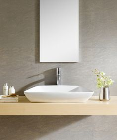 Modern Vitreous Modern Vessel Bathroom Sink