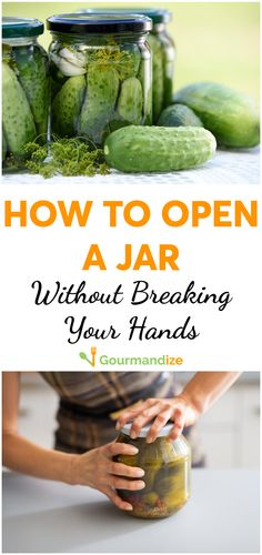 When nothing works, you just want to smash the jar in frustration! But you can end the struggle, here's how... #kitchenhacks #kitchentips #kitchentricks #jars #jaropening