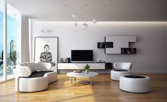 Living Room Fabulous Design Modern Black And White Living Room Picture Frame Painted On Wall Laminate Flooring Chandelier White Cool Sofa Po...