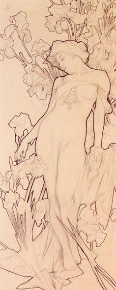 """""""Iris"""", Alphonse Mucha"""