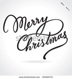 MERRY CHRISTMAS hand lettering -- custom handmade calligraphy, vector (eps8) - stock vector #download #stock #StockImages #microstock #royaltyfree #vectors #calligraphy #HandLettering #lettering #design #letterstock #silhouette #decor #printable #printables #craft #diy #card #cards #label #tag #sign #vintage #typography