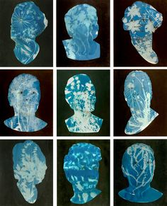 Cyanotype portraits from the Natural Histories series by photographers Barbara…