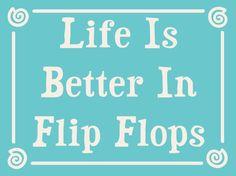 "Life is Better in Flip Flops Beach Sign 6""x4.5"""