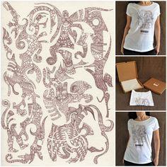 Idea regalo!? T-shirt artistica da donna 100% cotone con stampa digitale.  Edizione limitata..