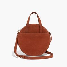 The Juno Circle Shoulder Bag in Maple Syrup