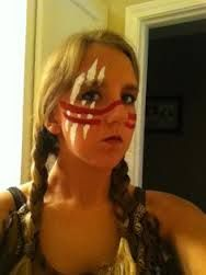 Explore collection of American Indian Face Painting Native American Makeup, American Indian Costume, Native American Face Paint, Native American Women, American Indians, Indian Costumes, Maquillage Halloween, Halloween Face Makeup, Indian Face Paints