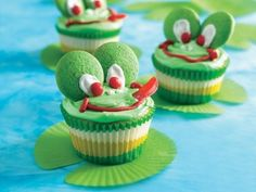 Leap Frog cupcakes from Betty Crocker