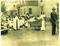 front of the Cape Verdean Parade WWII.  Photo courtesy Lou Costa by Fox Point Oral History Project, via Flickr