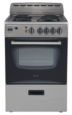 Avanti Freestanding Electric Range with Deluxe See-Thru Glass Oven Door in Stainless Steel Cu. Oven Capacity Bake / Broil Oven with Waist High Broiling (Broiling Pan Included) Deluxe See-Thru Glass Oven Door Apartment Kitchen, Kitchen Interior, Basement Apartment, Studio Apartment, Apartment Design, Apartment Living, Kitchen Appliance Storage, Kitchen Appliances, Home