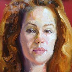 Erin, oil on glass, #rayturnerpopulation #artsagram #oilpainting #portrait