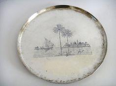 A Iraqi Neillo Silver Tray 18th Century by ancientartgallery, $2000.00