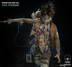 ArtStation - 進擊的巨人_兵長_里維阿克曼/Attack on Titan_Levi Ackerman, violic chen