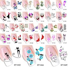 sticker nail art decals Picture - More Detailed Picture about 1 Sheet 2017 Top Sell Flower Bows Etc Water Transfer Sticker Nail Art Decals Nails Wraps Temporary Tattoos Watermark Nail Tools Picture in Stickers & Decals from YZWLE Official Store Diy Nails Tools, Nail Art Tools, Nail Art Stickers, Nail Decals, Tattoo Sticker, Nail Remover, Water Transfer Printing, Cat Flowers, Prego