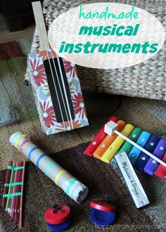 Making Handmade Instruments: Playful instruments craft for kids