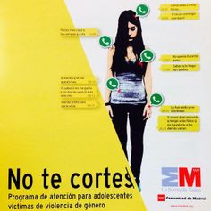 Campaña de la comunidad de Madrid contra la violencia de género.