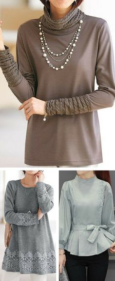 fashion tops for women, outfits causal tunic tops, free shipping worldwide at rosewe.com.