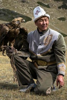 A man and his eagle have such a special relationship. #Kyrgyzstan #centralasia #eaglehunters