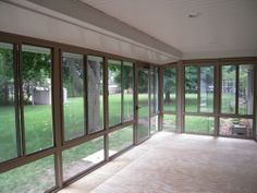 Interior view of sunroom project.