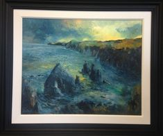 'Nohoval, Evening' Co. Cork. Ireland. Canvas size: 32 x 24 inches. Framed. Euro 1450 Painting, Art, Canvas Size, Canvas