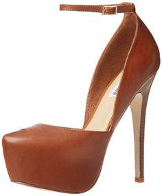 Steve Madden Women's Deeny Platform Pump,Cognac Leather