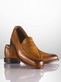 $475 Singleton Burnished Loafer - Dress Shoes - RalphLauren.com