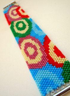 Candy Shop Peyote Cuff Bracelet Spring Fashion by BeadingTimes, $38.00