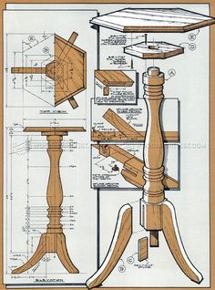 Wood Plant Stand Plans - Furniture Plans