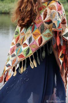 Crochet Shawl Fringe Ravelry 15 New Ideas Crochet Wool, Crochet Shawl, Hand Crochet, Crochet Stitches, Crochet Baby, Hand Knitting, Ravelry Crochet, Knitted Shawls, Tunisian Crochet