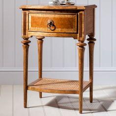 Clearance - Frank Hudson Spire 1 Drawer Bedside Cabinet - Walnut - New - - CFS Furniture UK Hudson Furniture, French Furniture, Classic Furniture, Side Table With Storage, Bedside Cabinet, Furniture Assembly, Traditional Furniture, Quality Furniture, Cheap Furniture